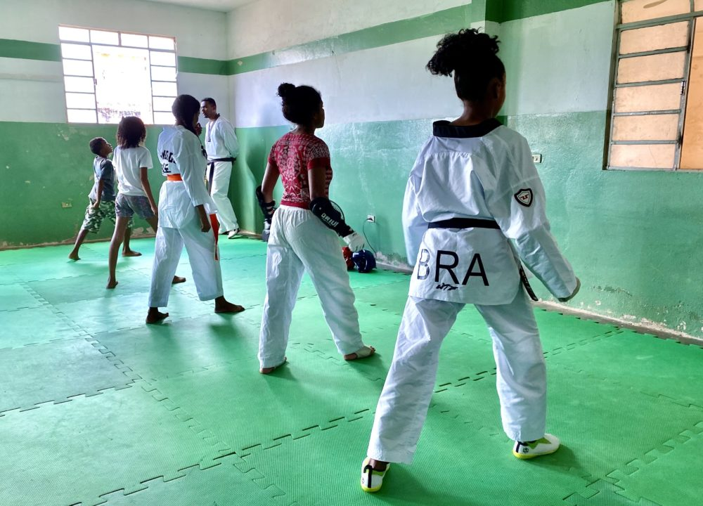 Casa da Crianca taekwondo program.