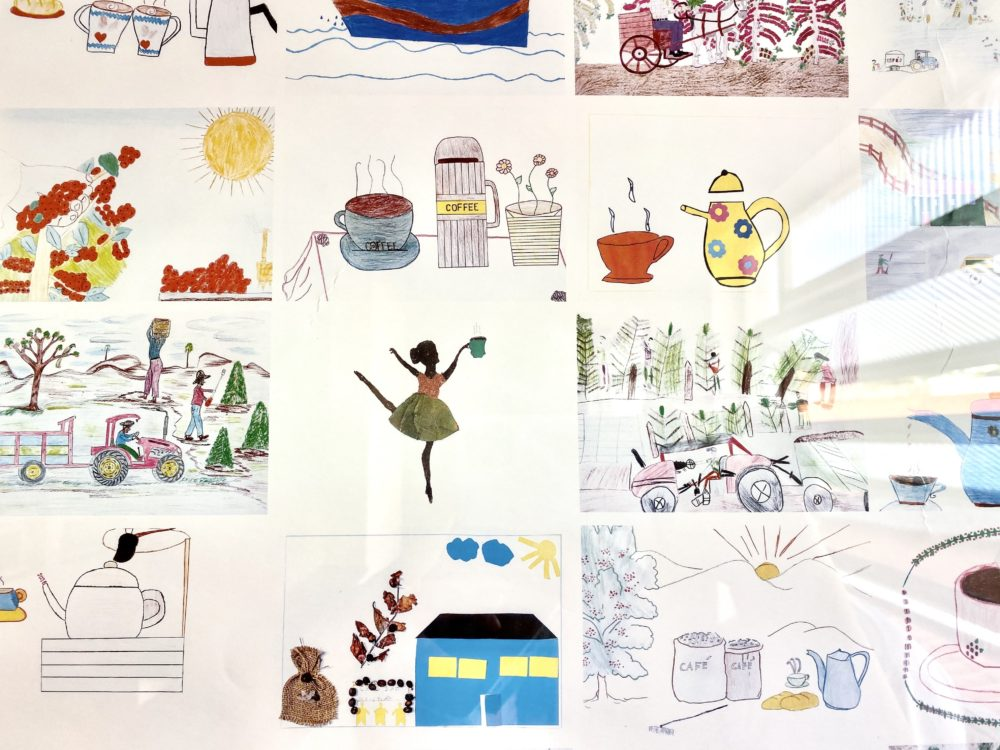 Casa da Crianca student paintings.