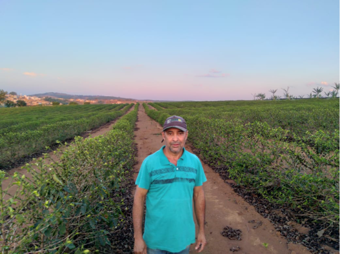 Coffee producer Savio dos Reis Borges